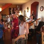 celebrations on the last day: live music, dancing, wine, and chocolate!