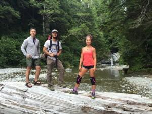 Joe, Jon and I taking a break to admire the beautiful falls